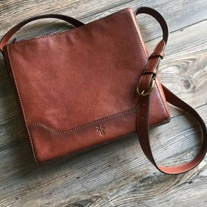 FRYE Crossbody Leather Messenger Bag!